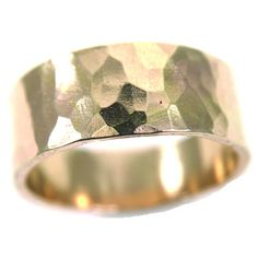 MMR Thick Hammered Ring Goldfill - Mineral and Matter