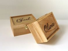 Personalised engraved wooden box  Wooden box  by MakeMemento