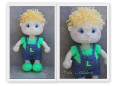 Doll in overalls, Leon in overalls