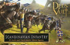 Infanterie médiévale Scandinave                                                                                                                                                                                                                                            25 figurines  multi-poses en plastique à monter et à peindre