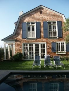 Shingle Style More Navy Shutters Beach House Dreams Summer House