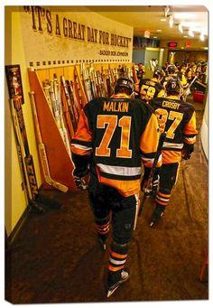 Frameworth Sports Pittsburgh Penguins 20X29 Heading To The Ice Featuring Sidney Crosby & Evgeni Malkin Canvas Frame Pens Hockey, Hockey Mom, Hockey Teams, Hockey Players, Ice Hockey, Hockey Rules, Hockey Gifts, Pittsburgh Sports, Pittsburgh Penguins Hockey