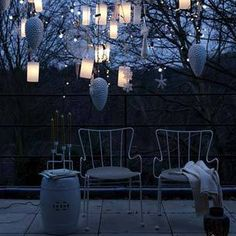 The link takes you to Christmas ideas, but this romantic porch decor would work in any season