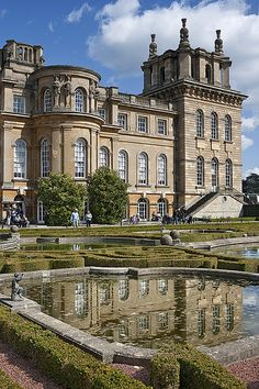 Blenheim Palace is a monumental country house situated in Woodstock, Oxfordshire, England, residence of the dukes of Marlborough. It is the only non-royal non-episcopal country house in England to hold the title of palace.