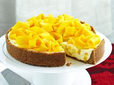 Fresh, ripe mango is food of the gods no matter what dish it finds its way into. Included in this creamy cheesecake with a biscuit, coconut and macadamia base, it makes a positively heavenly dessert.