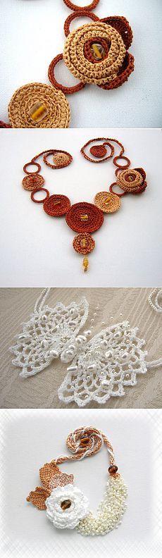 Огромная подборка вязаной бижутерии - в копилочку для идей | Варварушка-Рукодельница