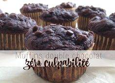 Muffin double chocolate zero guilt very soft.t do not replace the sugar otherwise it tastes like nothing! Swells very much in cooking Muffins Double Chocolat, Cas, Dessert Aux Fruits, Good Food, Yummy Food, Muffin Bread, Tonne, Something Sweet, Healthy Baking