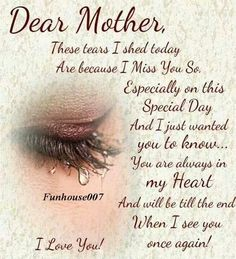 Missing My Mother In Heaven Poems Missing Mom In Heaven On Her
