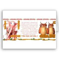 Valxart zodiac Earth Bull Gemini born 1949 2009 Greeting Card by valxart for $3.10 is one of 720  designs for 60 years of Chinese zodiac combined with 12 zodiac designs and forecast each used on several products . Valxart has designs on 12 zodiac cusp and 60 years of chinese zodiac. If you do not see desired year and zodiac sign contact info@valx.us for links to desired images.