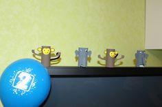 Dschungel Affe Elefant Klopapierrolle Papprolle Basteln