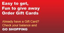 Can't find the right gift? That's ok! Send them a gift card and let them decide what they want!