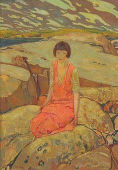 Frederick H. Varley - Rocky Shore, 1922