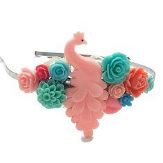 Peacock Headband-Circus Headband-Burlesque Headband-Pink Hair Handmade Accessories, Fashion Accessories, Hair Accessories, Pink Hair, Blue Hair, Diy Gifts, Best Gifts, Handmade Gifts, Cute Headbands