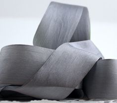 "Gray Silk Ribbon 1.25"" wide by the yard Weddings, Gift Wrap, Sewing, Trim, Bridal Sash, DIY by ThePaperSandbox on Etsy https://www.etsy.com/listing/194297796/gray-silk-ribbon-125-wide-by-the-yard"