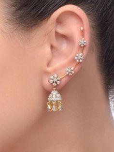 58980ab038c21 Bollywood inspired ear cuffs as worn by many celebrities Brincos,  Pulseiras, Brinco Dourado,