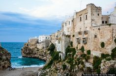 """puglia italy: """"In the heel of Italy's boot, the Mediterranean diet takes one of its purest and most delicious forms. Food (think olive oil, artichokes, and salami) is locally sourced, restaurants are quaint yet high-quality, and you can sleep in a converted farmhouse"""""""