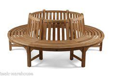 Teak Tree Bench - Seat Round 105cm Centre (Product Code TK-B10)