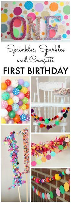 Sprinkles, Sparkles and Confetti Birthday Party Ideas