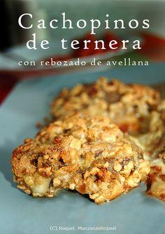 http://manzanasrojasr.wordpress.com/  Sugerencias: cachopinos de ternera con rebozado de avellana