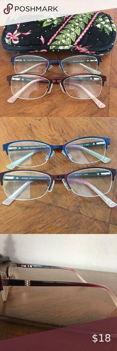 Foster Grant Reading glasses Slim Soft Sleeve Cases Light Brown NEW Lot of 6