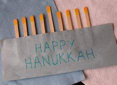 Easy Construction Paper Menorah Craft: Chanukah Crafts for Kids & Decorations - Kaboose.com