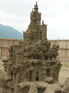 Sandcastle competition at Harrison Hot Springs BC