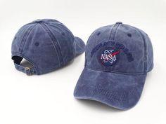 4319e357b3a Brand Embroidery Nasa I Need My Space Baseball Cap Hip Hop Women Men  Adjustable Denim Blue Dad Hat Bone Gorras Trucket Hat Friend Blue Denim