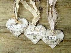 Tags Heart Tags Shabby Chic Tags Wedding Tags Gift by TanaBarisoff, $12.75