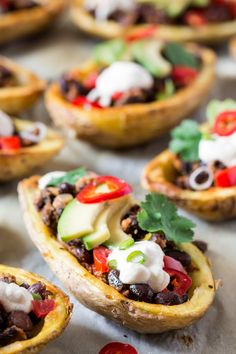 Crispy potato skins filled with delicious mexican filling make a great lunch, dinner or post-exercise recovery meal. Easy and quick to make, naturally vegan and glutenfree too