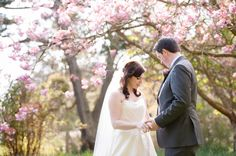 Spring wedding, cherry blossom wedding