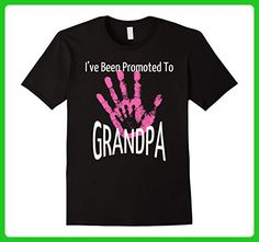 Mens I've Been Promoted To Grandpa T Shirt Pink Hand Print XL Black - Relatives and family shirts (*Amazon Partner-Link)