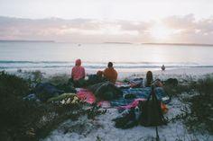 Morning beach camping tumblr