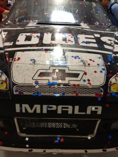 Jimmie Johnson's winning No. 48 Lowe's Kobalt Tools Chevrolet from Darlington Raceway. Confetti is a nice touch! #200wins