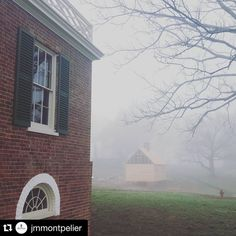 Join us and our friends at @jmmontpelier in wishing former president James Madison a happy 265th birthday!  #Repost @jmmontpelier: A foggy start to Mr. Madison's birthday. by savingplaces