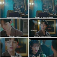 That's erotic. She is acting all so shy. Drama Memes, Drama Quotes, Korean Drama Movies, Korean Dramas, Kdramas To Watch, Drama Drama, Jin Goo, Korean Quotes, Funny Scenes
