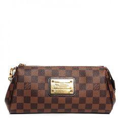 LOUIS VUITTON Damier Ebene Eva Clutch. Louis Vuitton Purse ... 25d8cd7cce52e