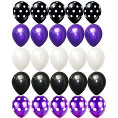 Elegant Black and Purple Birthday Decorations