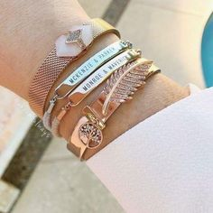 New KEEP Collective adjustable engraveable bracelet in rose gold Silver Jewellery Indian, Rose Gold Jewelry, Heart Jewelry, Body Jewelry, Keep Jewelry, Cute Jewelry, Women Jewelry, Keep Bracelet, Cleaning Silver Jewelry