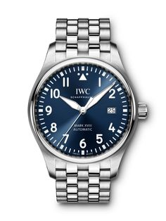 Iwc Perpetual Calendar, Iwc Chronograph, Iwc Pilot, Iwc Watches, Best Watches For Men, Watch Companies, Stainless Steel Bracelet, Vintage Watches, Omega Watch