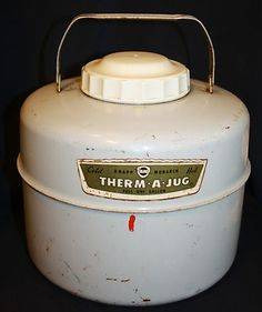 Vintage 1 Gal. Metal Insulated Knapp - Monarch Therm-a-Jug Thermos Hot or Cold | eBay