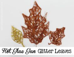 A hot glue gun and glitter is all you need to make these beautiful fall leaves! You can use foil to put them on but if you have Teflon sheets those work wonderf…