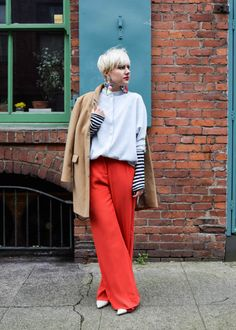 Don't be afraid to wear stripes UNDER a great shirt - 13 Fashion Rules we Learned from Jenna Lyons - BloggerNotBillionaire.com