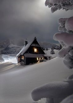 New Nature Winter Wonderland Snow Scenes 62 Ideas Winter Szenen, I Love Winter, Winter Magic, Winter Night, Winter House, Snow Night, Winter Time, Beautiful World, Beautiful Places