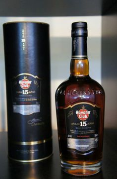 The new bottle of Havana Club 15 years Gran Reserva.