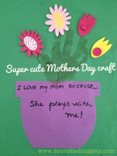 Super easy and cute Mothers Day craft idea