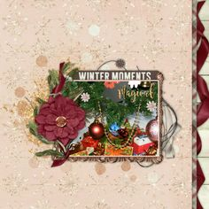 Created with Scrapaneers' Winter Magic parts made by Amber Shaw, River Rose designs and Amanda Yi. Scraplifted a page made by Tammy Zautner
