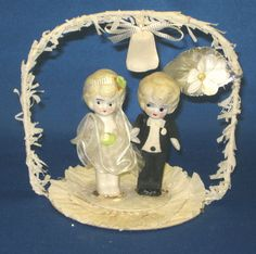 Vintage 1920's Bisque Bride Groom Wedding Cake Topper | eBay