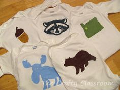 DIY - Embellish children's clothing using freezer paper templates and paint.