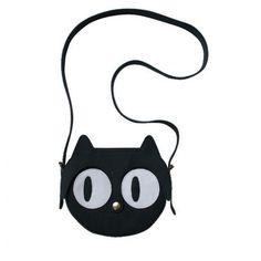 Black Cat Leather Bag