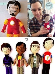 The guys from Big Bang Theory A[mi]dorable Crochet: June 2013